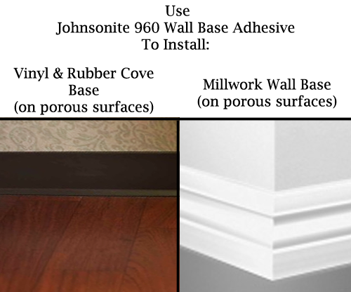 vinyl baseboard adhesive cove base adhesive