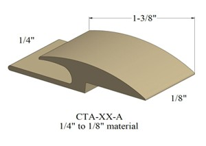 Johnsonite Cta Xx A Carpet To Resilient Floor Transition Strip