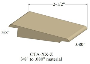 Johnsonite Cta Xx Z Transition Strips For 3 8 Quot To 080